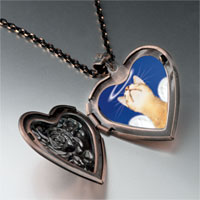 Necklace & Pendants - angel cat heart locket pendant necklace Image.