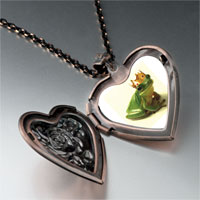 Necklace & Pendants - frog prince heart locket pendant necklace Image.