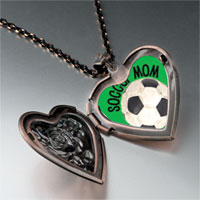 Necklace & Pendants - soccer mom photo heart locket pendant necklace Image.