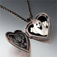 Necklace & Pendants - halloween ghost heart locket pendant necklace Image.
