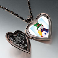 Necklace & Pendants - jewelry plastic christmas gifts snowman heart locket pendant necklace Image.