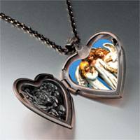 Items from KS - angels heart locket pendant necklace Image.