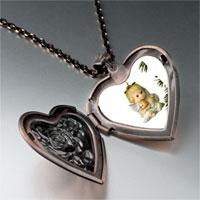 Necklace & Pendants - angel ornament heart locket pendant necklace Image.
