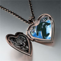Necklace & Pendants - killer whale show heart locket pendant necklace Image.