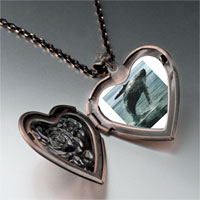 Necklace & Pendants - humpback whale ocean heart locket pendant necklace Image.