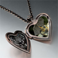 Items from KS - squirrel little umbrella heart locket pendant necklace Image.
