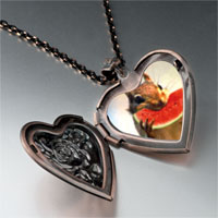 Items from KS - squirrel sweet watermelon heart locket pendant necklace Image.