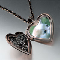 Necklace & Pendants - little kitten heart locket pendant necklace Image.