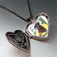 Necklace & Pendants - dog swimming floaty heart locket pendant necklace Image.