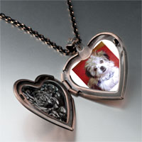 Necklace & Pendants - little terrier heart locket pendant necklace Image.