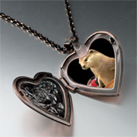 Necklace & Pendants - prairie dog drink heart locket pendant necklace Image.