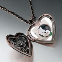 Necklace & Pendants - puffball black white cat heart locket pendant necklace Image.