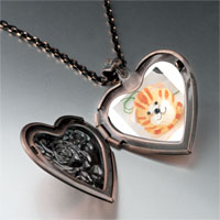 Necklace & Pendants - puffball cat heart locket pendant necklace Image.