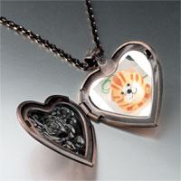 Necklace & Pendants - puffball cat heart locket pendant necklace Image.