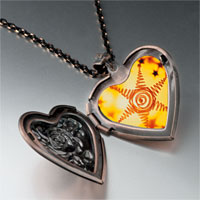 Items from KS - wiry star heart locket pendant necklace Image.