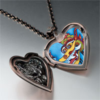 Necklace & Pendants - chinese new year dragon heart locket pendant necklace Image.