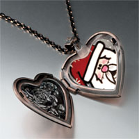 Necklace & Pendants - surprised santa heart locket pendant necklace Image.