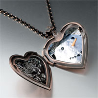 Necklace & Pendants - jewelry real christmas gifts snowman heart locket pendant necklace Image.