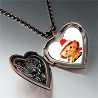 Necklace & Pendants - christmas doll red heart locket pendant necklace Image.