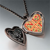Necklace & Pendants - noel quilt square heart locket pendant necklace Image.