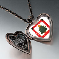 Necklace & Pendants - christmas jewelry christmas tree gifts quilt square heart locket pendant necklace Image.