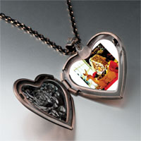 Necklace & Pendants - cozy gingerbread house heart locket pendant necklace Image.