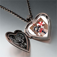 Necklace & Pendants - gingerbread man cookie halloween candy heart locket pendant necklace Image.