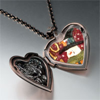 Necklace & Pendants - jewelry christmas gifts snowman stamp heart locket pendant necklace Image.