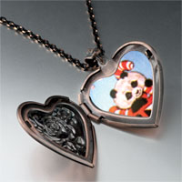 Necklace & Pendants - christmas panda heart locket pendant necklace Image.