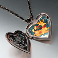 Necklace & Pendants - christmas rudolph reindeer stamp heart locket pendant necklace Image.