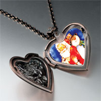 Necklace & Pendants - jewelry santa frosty christmas gifts snowman heart locket pendant necklace Image.