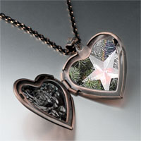 Necklace & Pendants - glowing star ornament heart locket pendant necklace Image.