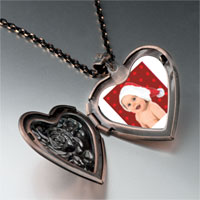 Necklace & Pendants - baby santa heart locket pendant necklace Image.