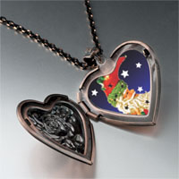 Necklace & Pendants - santa crescent heart locket pendant necklace Image.