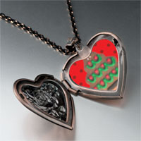 Necklace & Pendants - christmas jewelry gingerbread christmas tree gifts heart locket pendant necklace Image.