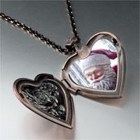 Necklace & Pendants - santa statue heart locket pendant necklace Image.