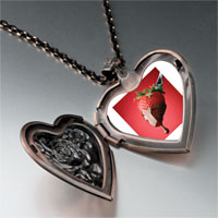 Necklace & Pendants - chocolate dipped strawberry heart locket pendant necklace Image.