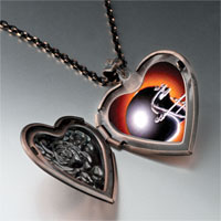 Items from KS - football helmet black heart locket pendant necklace Image.