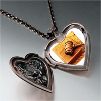 Necklace & Pendants - judge' s tool gavel heart locket pendant necklace Image.