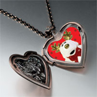 Necklace & Pendants - christmas rudolph reindeer stuffed animal heart locket pendant necklace Image.