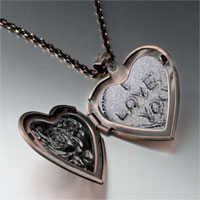 Items from KS - love sand heart locket pendant necklace Image.