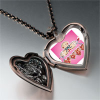 Necklace & Pendants - gingerbread noel heart locket pendant necklace Image.