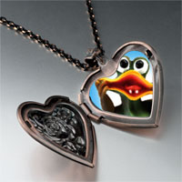 Items from KS - funky frog heart locket pendant necklace Image.