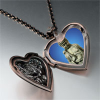 Items from KS - stone buddha heart locket pendant necklace Image.