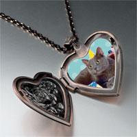 Necklace & Pendants - birthday cat heart locket pendant necklace Image.