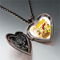 Necklace & Pendants - easter animals heart locket pendant necklace Image.