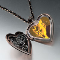 Necklace & Pendants - egyptian great sphinx heart locket pendant necklace Image.