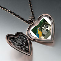 Necklace & Pendants - pirate dog heart locket pendant necklace Image.