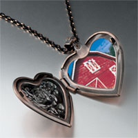 Necklace & Pendants - red barn heart locket pendant necklace Image.
