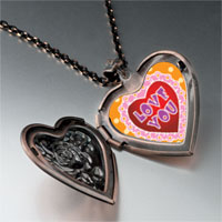 Items from KS - love pink heart locket pendant necklace Image.